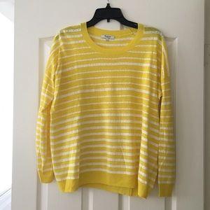 Madewell Yellow Stripe Long Sleeve